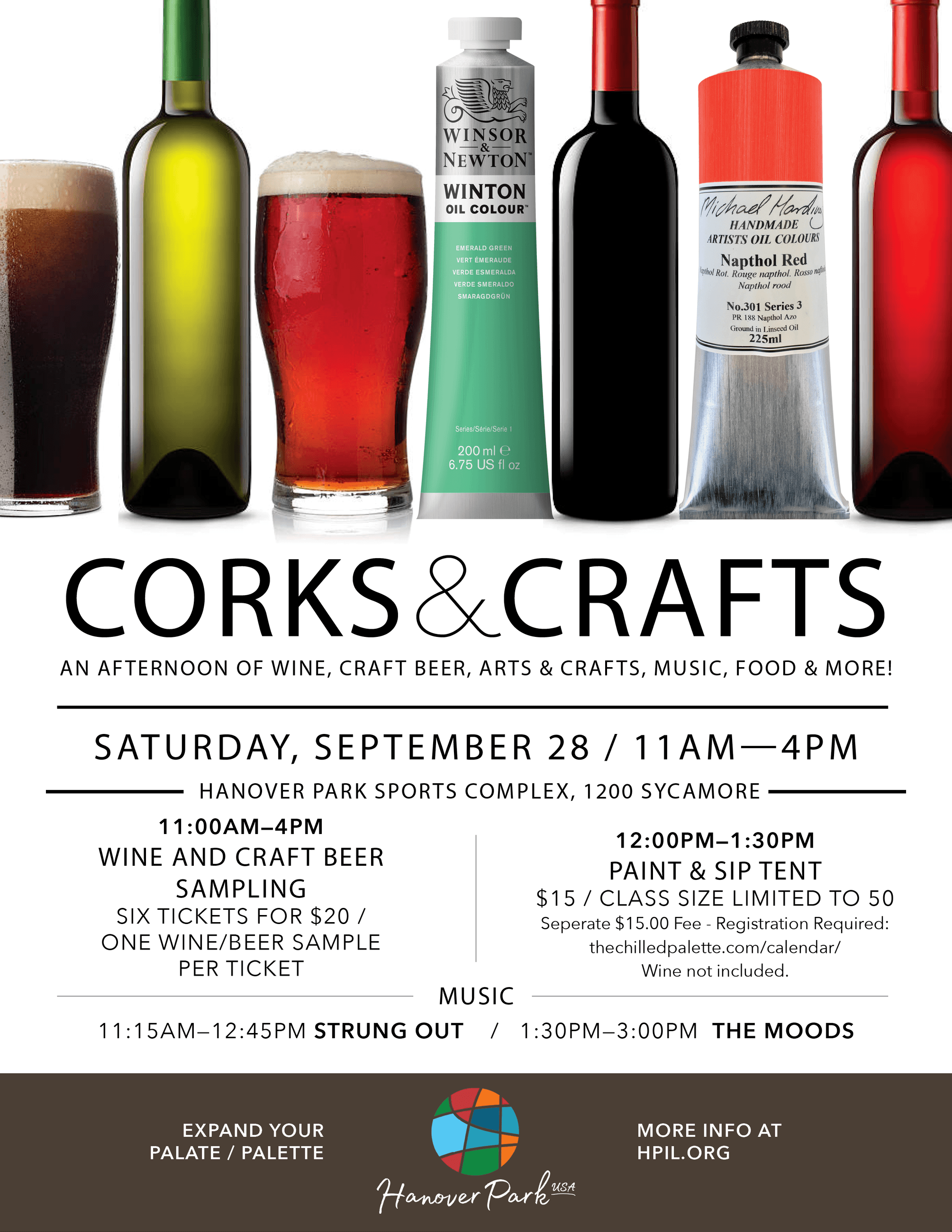 Corks and Craft flyer