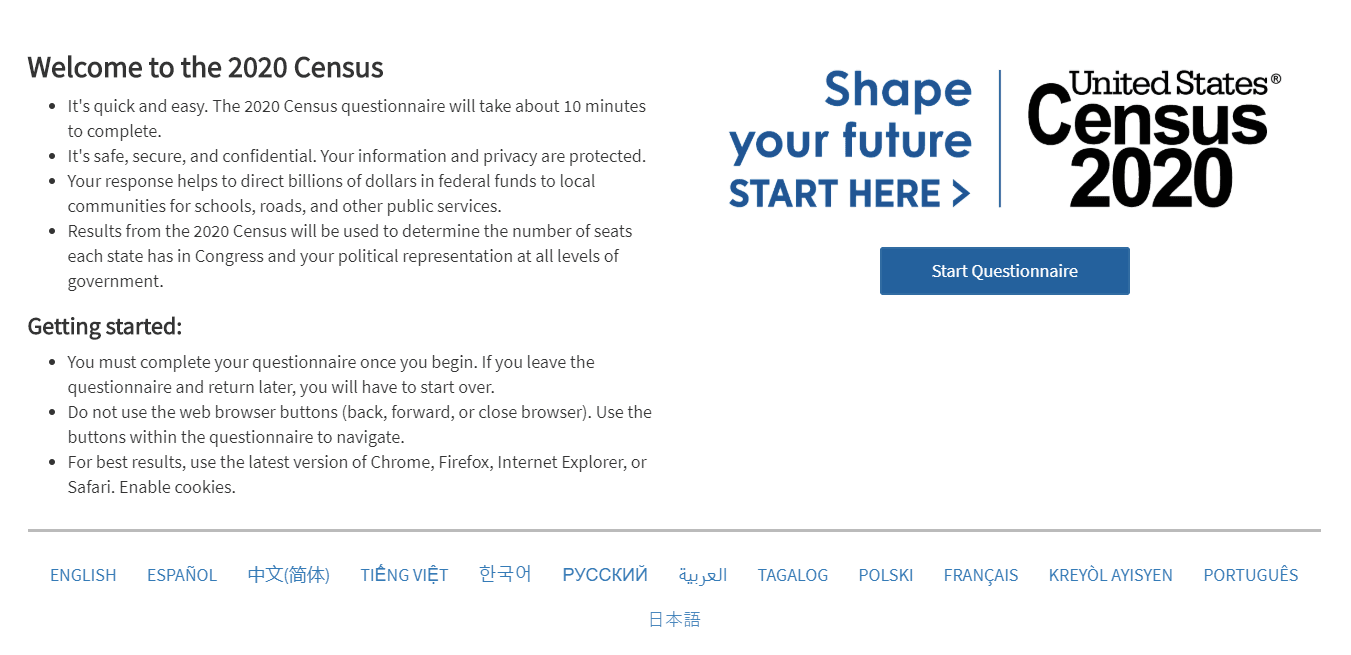 Respond To Census graphic Opens in new window